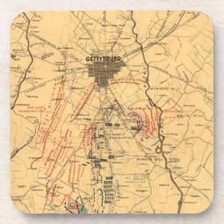 Gettysburg y vecindad tropa posiciones 3 de julio posavasos de bebidas