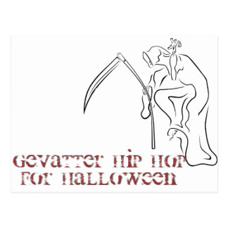 Gevatter / Godfather / HIP HOP for Halloween Postcard