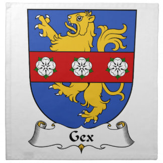 Gex Family Crest Printed Napkin