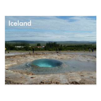 Geyser about to erupt! greeting card
