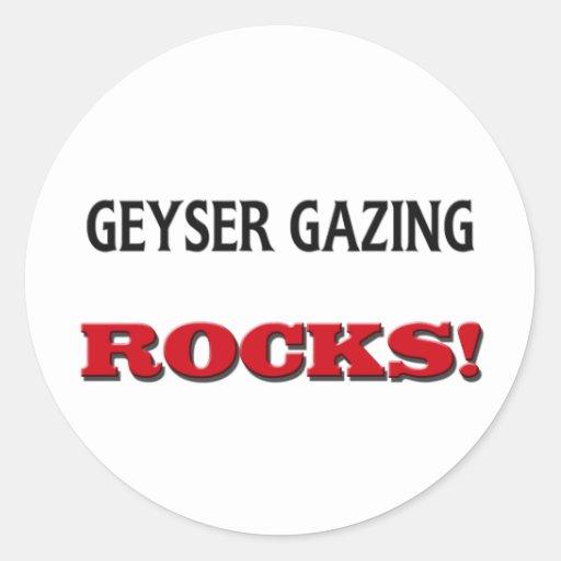 Geyser Gazing Rocks Sticker
