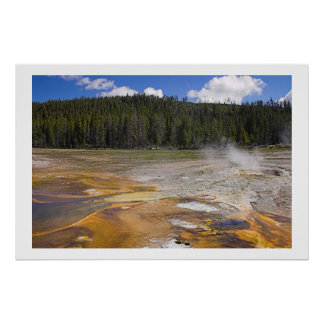 Geyser in Yellowstone National Park Poster