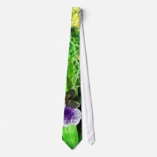 Geyser Jamie and Golden Fantasy Orchids Neck Tie