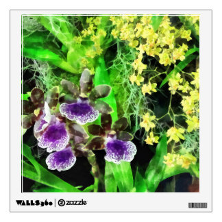 Geyser Jamie and Golden Fantasy Orchids Wall Sticker