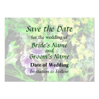 Geyser Jamie and Golden Fantasy Save the Date Card