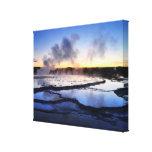 Geyser Smoke at Sunset Canvas Print