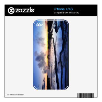 Geyser Smoke at Sunset iPhone 4S Decal
