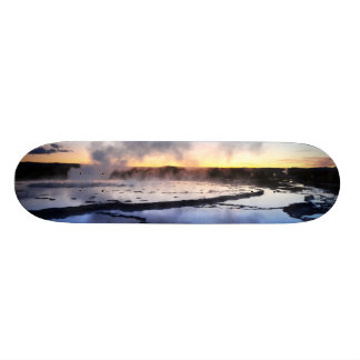 Geyser Smoke at Sunset Skate Deck