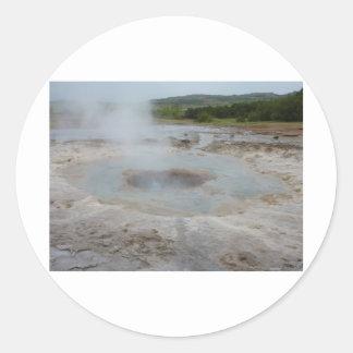 Geyser Round Sticker