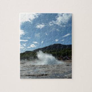 Geysir geyser in Iceland Jigsaw Puzzle