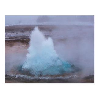 Geysir (hot spring) in Iceland Postcard