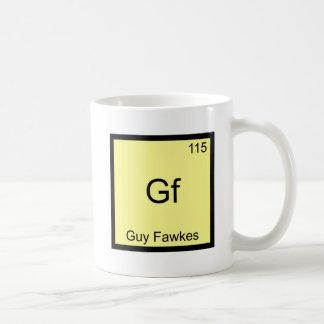Gf - camiseta divertida del símbolo del elemento taza clásica