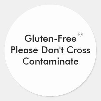 GF cross contaminate Classic Round Sticker