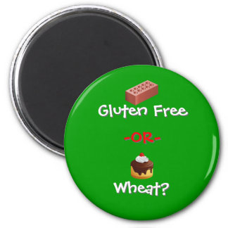 GF or Wheat? 2 Inch Round Magnet