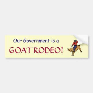 GF- pegatina del rodeo de la cabra del gobierno Pegatina Para Auto