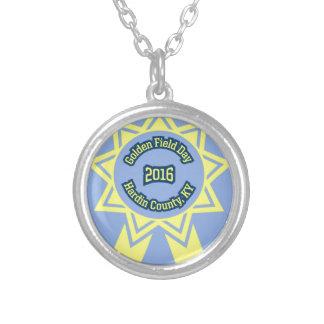 GFD Emblem Round Pendant Necklace