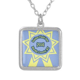 GFD Emblem Square Pendant Necklace