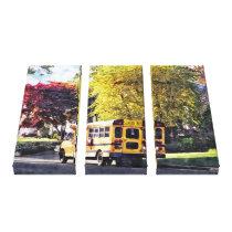 Gft_ParkedSchoolBusInAutumnParked School Bus In Au Canvas Print