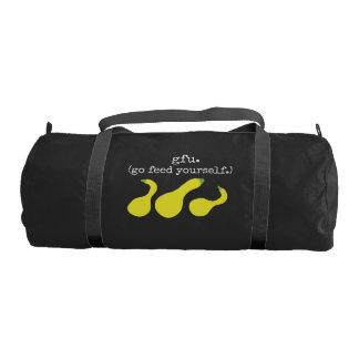 gfu./go feed yourself. (squash) <white text> gym bag