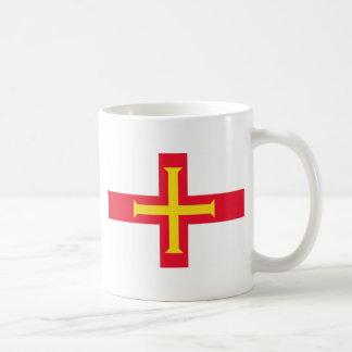 GG de la bandera de Guernesey Taza