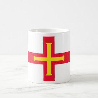 GG de la bandera de Guernesey Taza Clásica