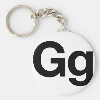 Gg Helvética Llaveros Personalizados