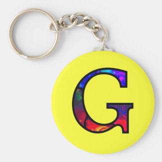 Gg Illuminated Monogram Keychain