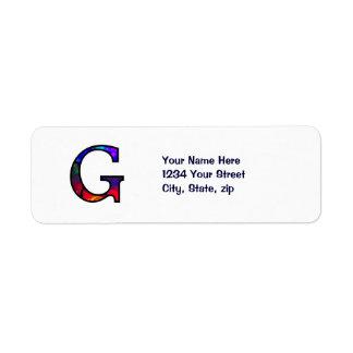 Gg Illuminated Monogram Return Address Label