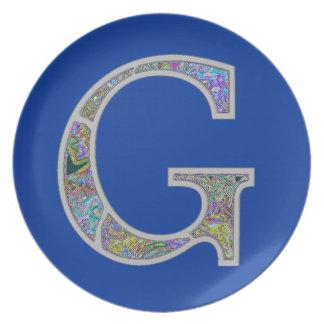 Gg Illuminated Monogram Dinner Plates