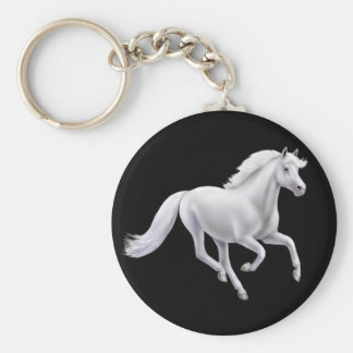 GGalloping White Horse Keychain