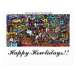 GGBR holiday 08, Happy Howlidays!! Postcard