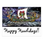 GGBR Holiday Postcard - Viking Bassets