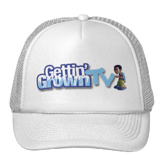 GGTV NC Blue Logo with Character Trucker Hat