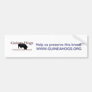 GH Farmers Friend, Help us preserve this breed.... Car Bumper Sticker
