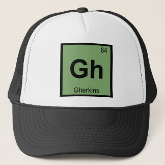 Gh - Gherkins Chemistry Periodic Table Symbol Trucker Hat