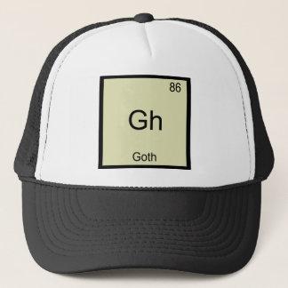 Gh - Goth Funny Chemistry Element Symbol T-Shirt Trucker Hat
