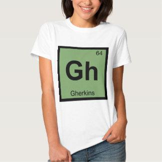 Gh - Símbolo de la tabla periódica de la química Camisas