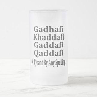 Ghadafi Khaddfi Qaddafi Frosted Glass Beer Mug