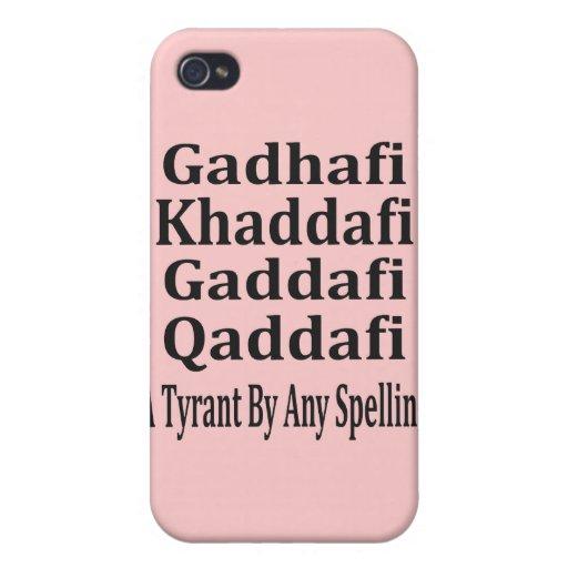 Ghadafi Khaddfi Qaddafi iPhone 4 Carcasa