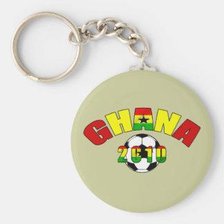 Ghana 2010 Black star ghana flag soccer ball gifts Basic Round Button Keychain