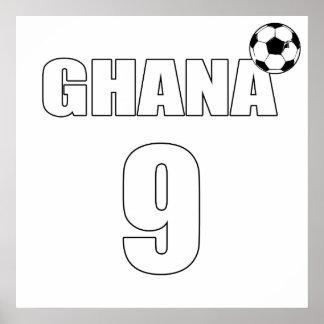 Ghana 9 - Ghana Number nine black stars gifts Posters