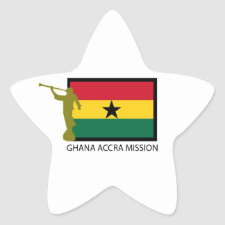 GHANA ACCRA MISSION LDS CTR STAR STICKER
