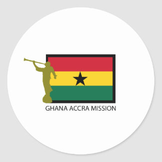 GHANA ACCRA MISSION LDS CTR ROUND STICKERS