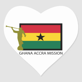 GHANA ACCRA MISSION LDS CTR HEART STICKER