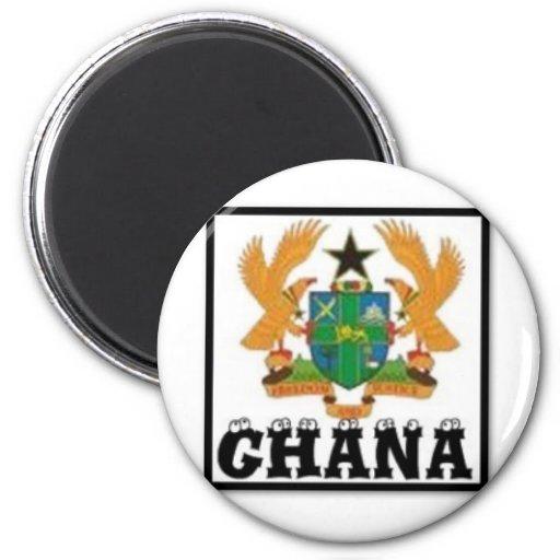 Ghana (Africa) 2 Inch Round Magnet