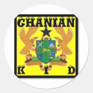 Ghana (Africa) Round Sticker