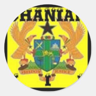 Ghana (Africa) Round Stickers