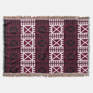 Ghana-Africa symbolic pattern on throw blanket.