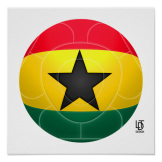 Ghana - Black Stars Football Poster