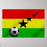 Ghana Black Stars Soccer flag Poster